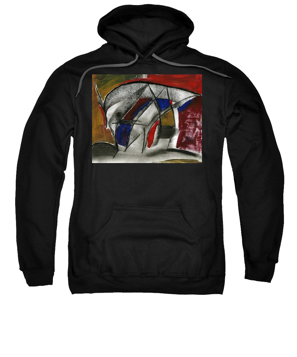 New Entrance Sweatshirt featuring the painting New Entrance by Taylor Webb