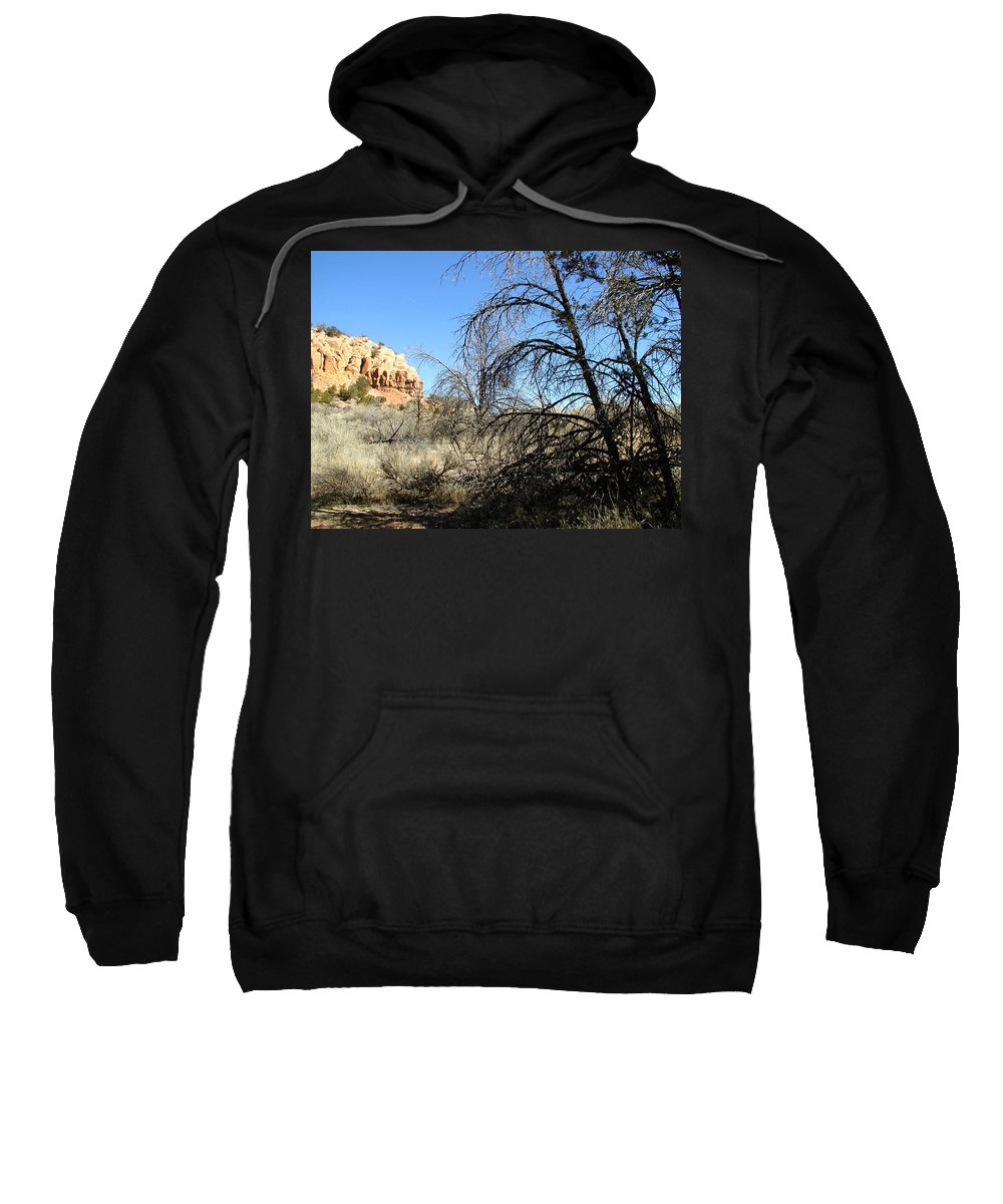 Landscape Sweatshirt featuring the photograph New Mexico Series - Bandelier II by Kathleen Grace