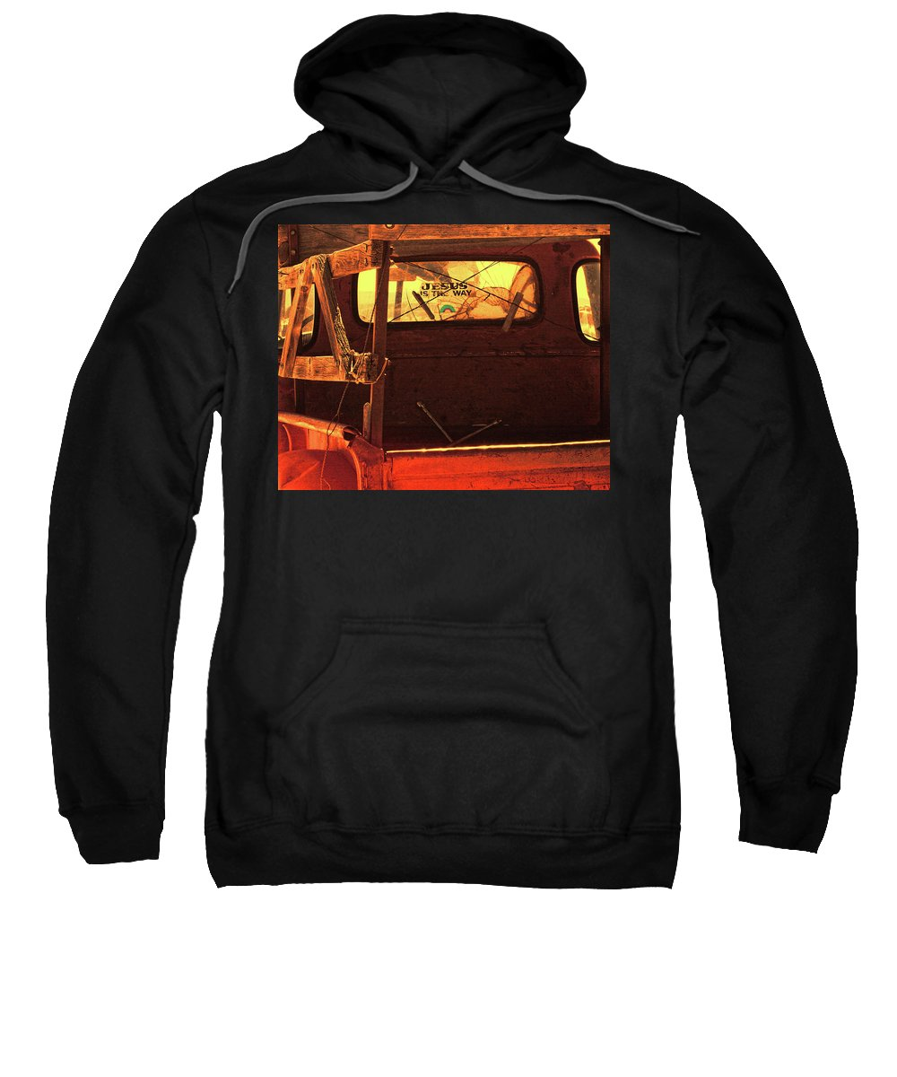 Truck Sweatshirt featuring the photograph New Mexico Sundown by Terry Fiala