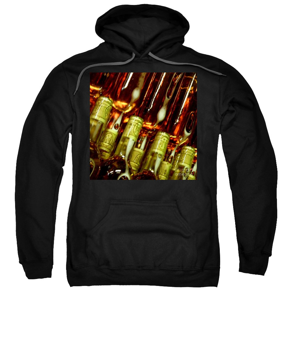Bottles Sweatshirt featuring the photograph New Wine by Lainie Wrightson
