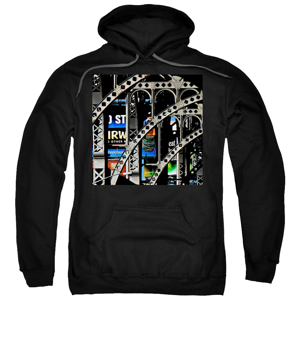 New York Sweatshirt featuring the photograph New York Abstract 1 by Andrew Fare