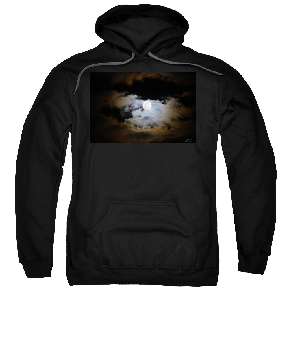 Moon Sweatshirt featuring the photograph Night Of The Full Moon by Diana Haronis