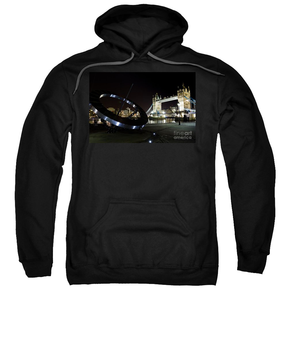 Thames Sweatshirt featuring the photograph Night View Of The Thames Riverbank by David Pyatt