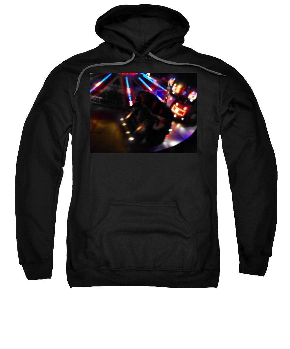 Fairground Ride Sweatshirt featuring the digital art Night Vision by Charles Stuart