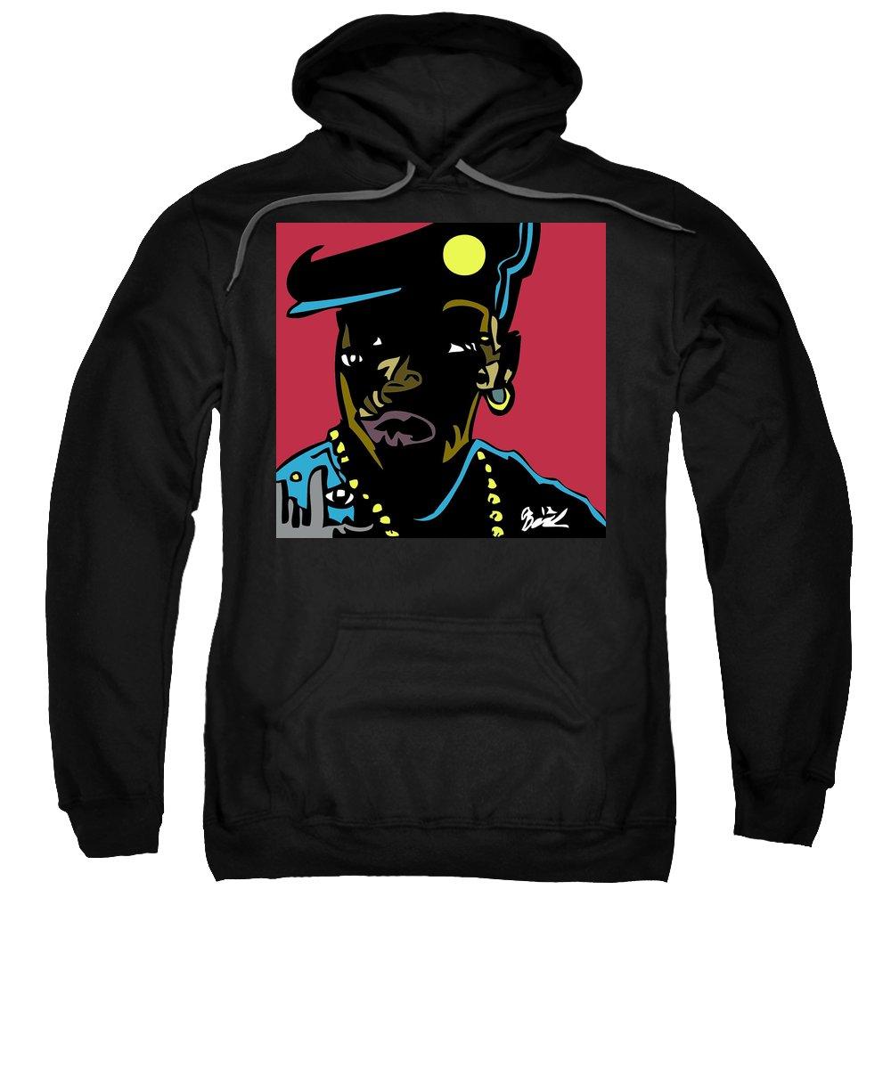 Newjackcity Sweatshirt featuring the digital art Nino Brown Full Color by Kamoni Khem