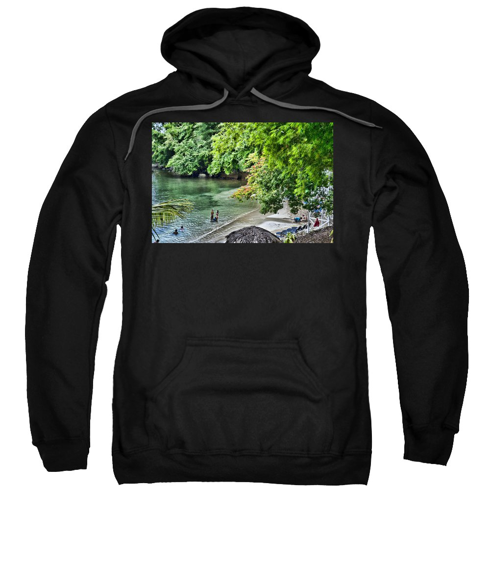 Jamaica Sweatshirt featuring the photograph Ocean Getaway by Sheri Bartoszek