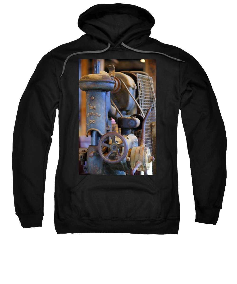 Warehouses Sweatshirt featuring the photograph Old Drill Press by Randy Harris