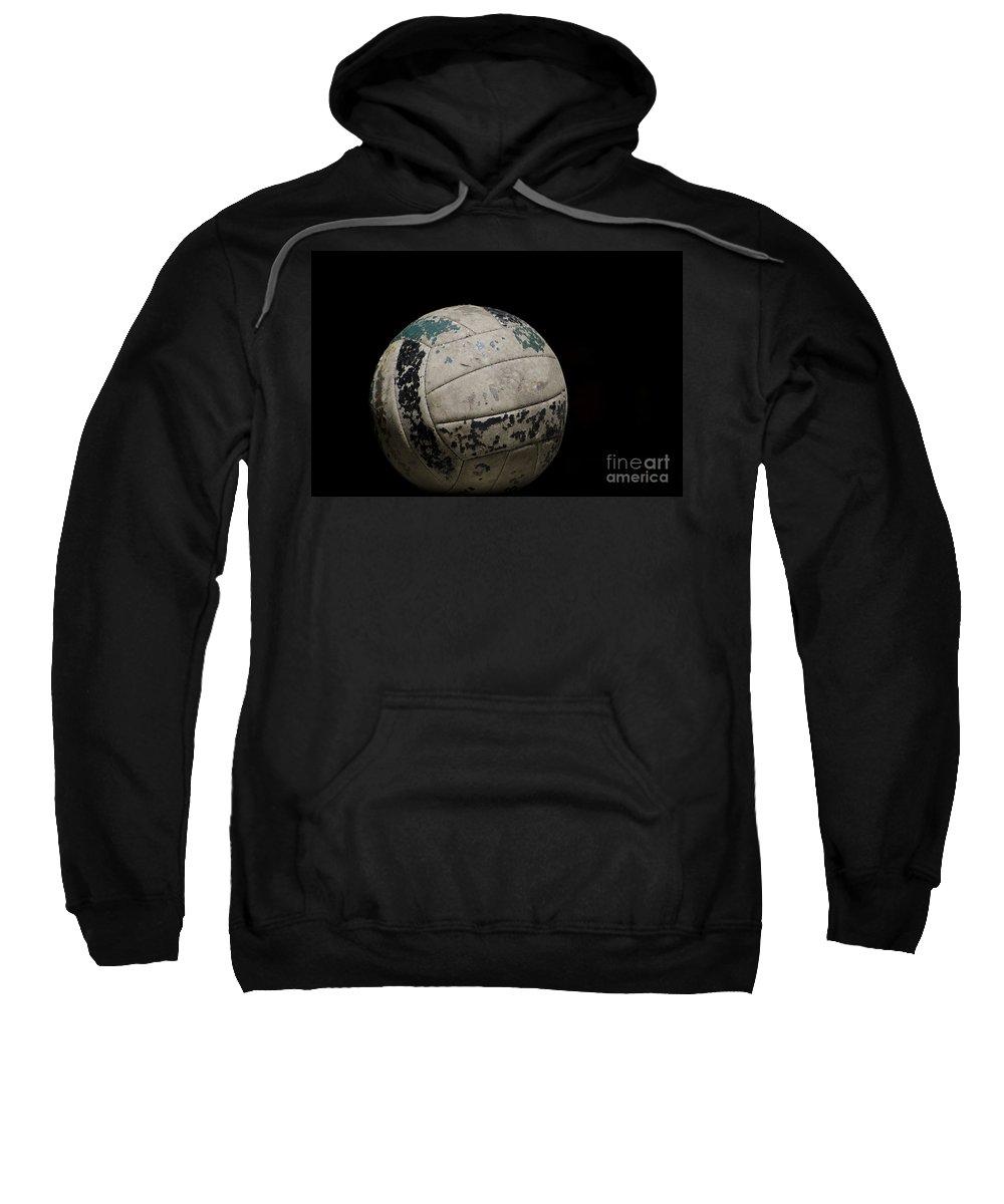Football Sweatshirt featuring the photograph Old Football by Mats Silvan