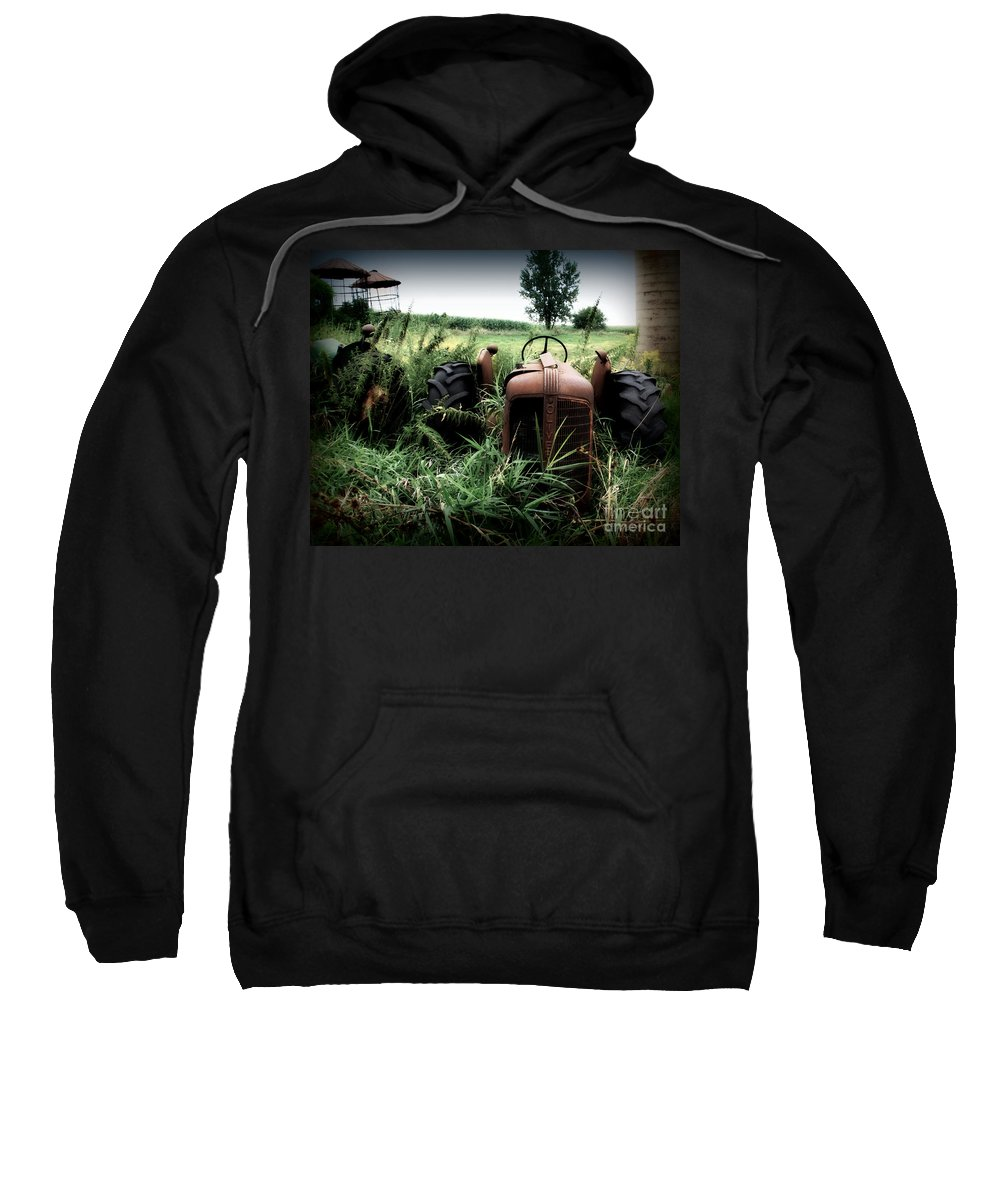 Tractor Sweatshirt featuring the photograph Old Oliver 3 by Perry Webster