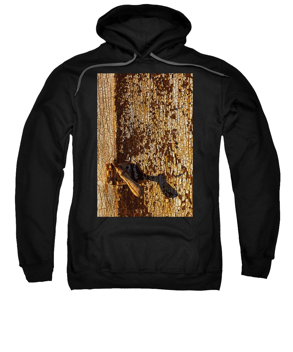 Old Sweatshirt featuring the photograph Old Rusty Door by Garry Gay