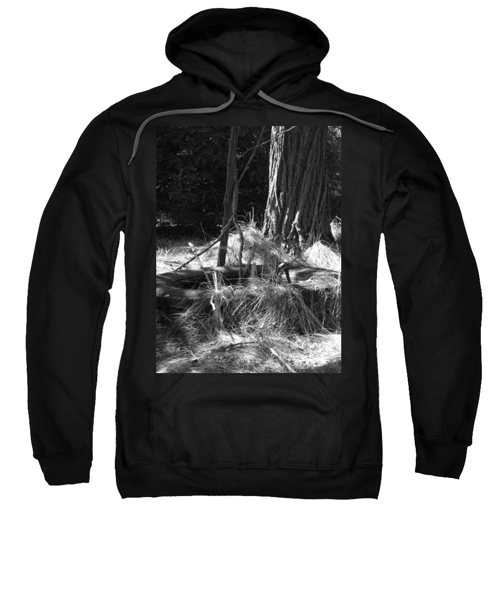Black And White Sweatshirt featuring the photograph Old Tire by Michele Nelson