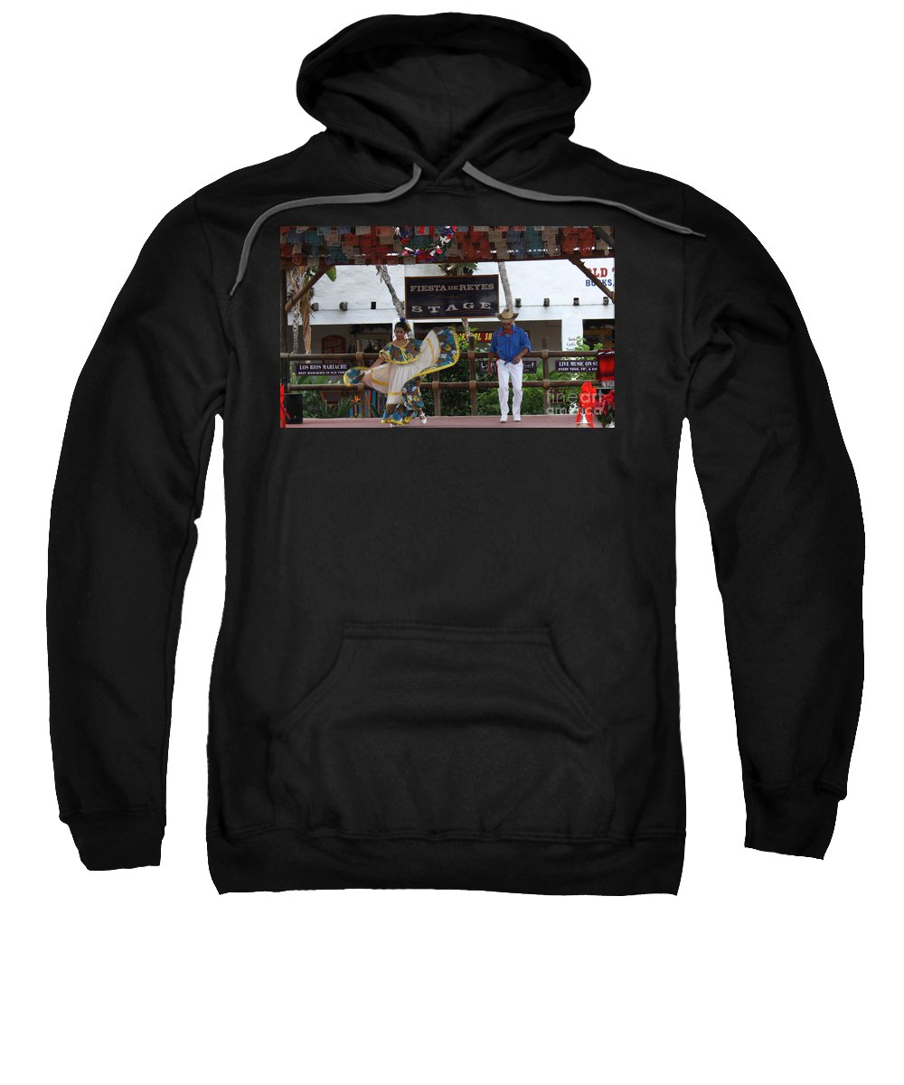 Old Town Sweatshirt featuring the photograph Old Towne San Diego Dancing by Tommy Anderson