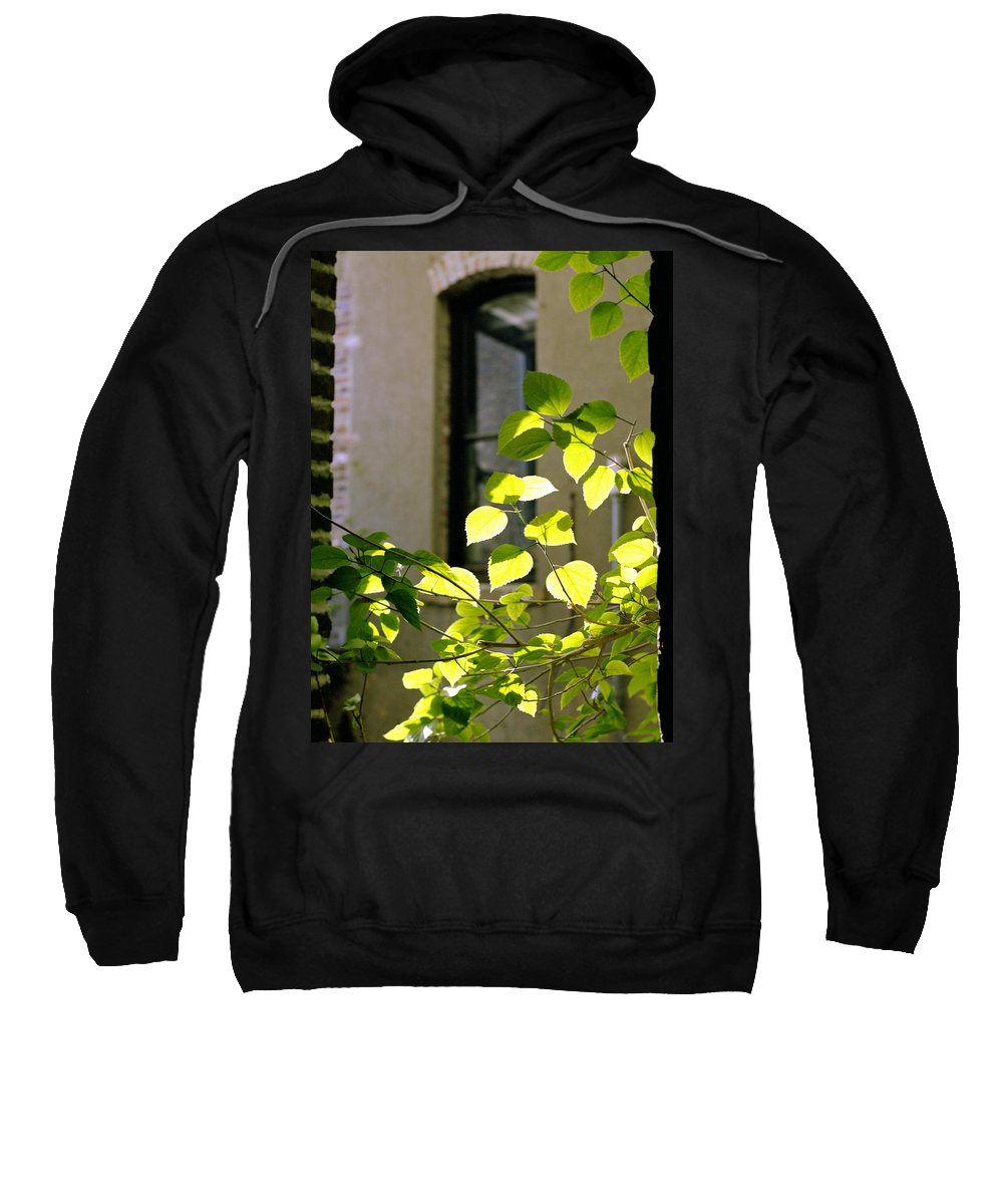 old Market Sweatshirt featuring the photograph Omaha Old Market Passageway by John Bowers