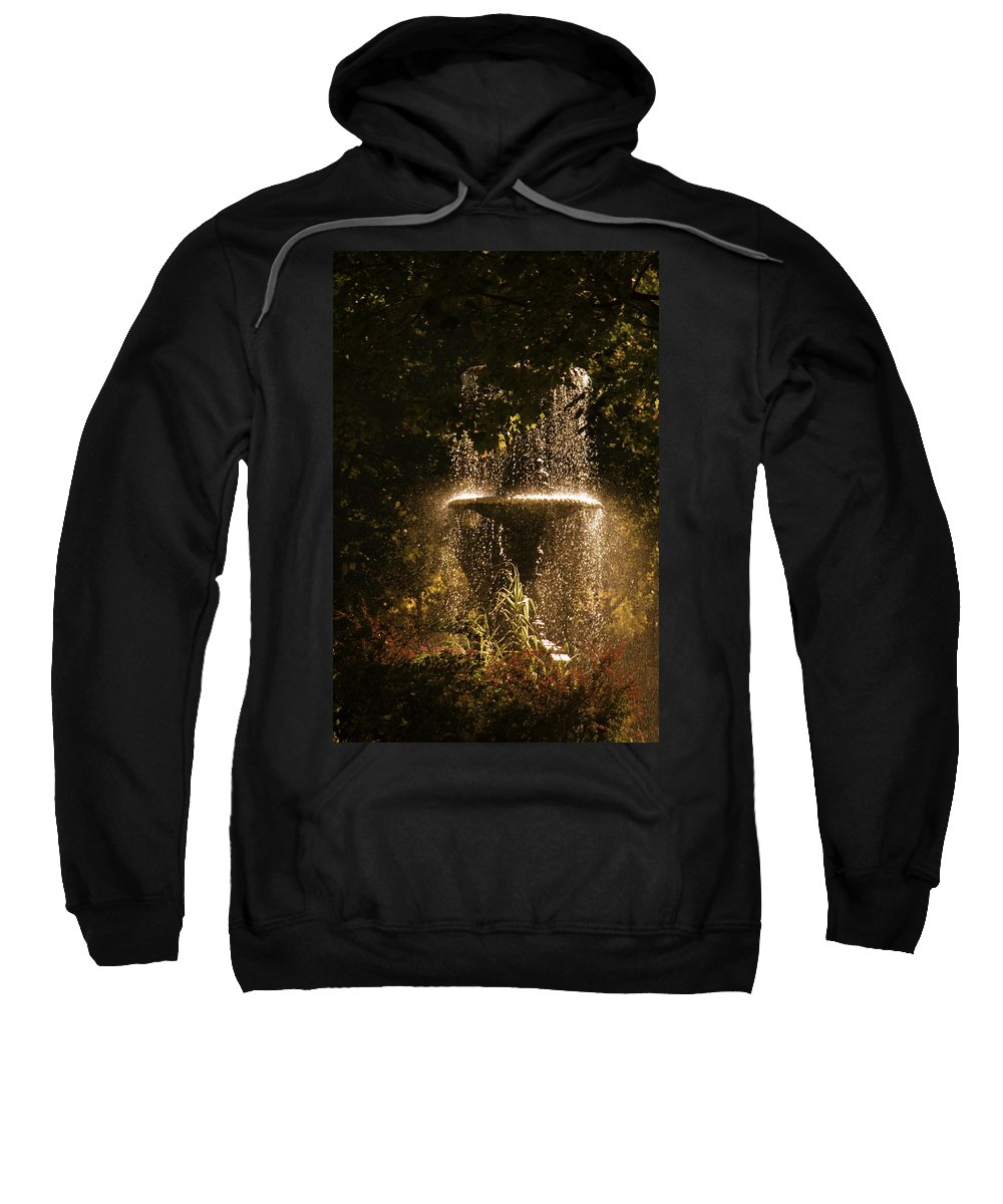 Fountain Sweatshirt featuring the photograph On A Perfect Day by Valerie Rosen