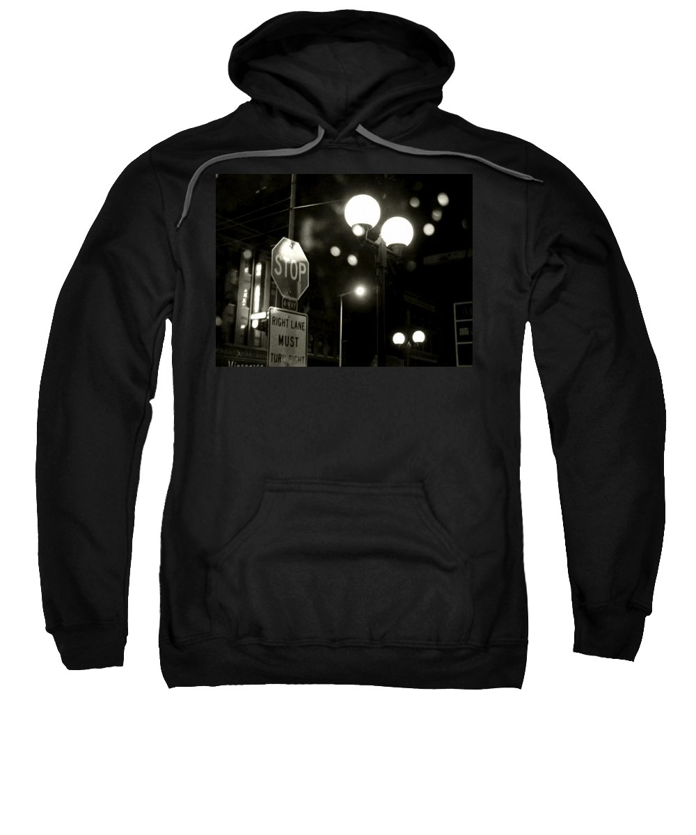 City Sweatshirt featuring the painting On The Road 2 by Adam Vance