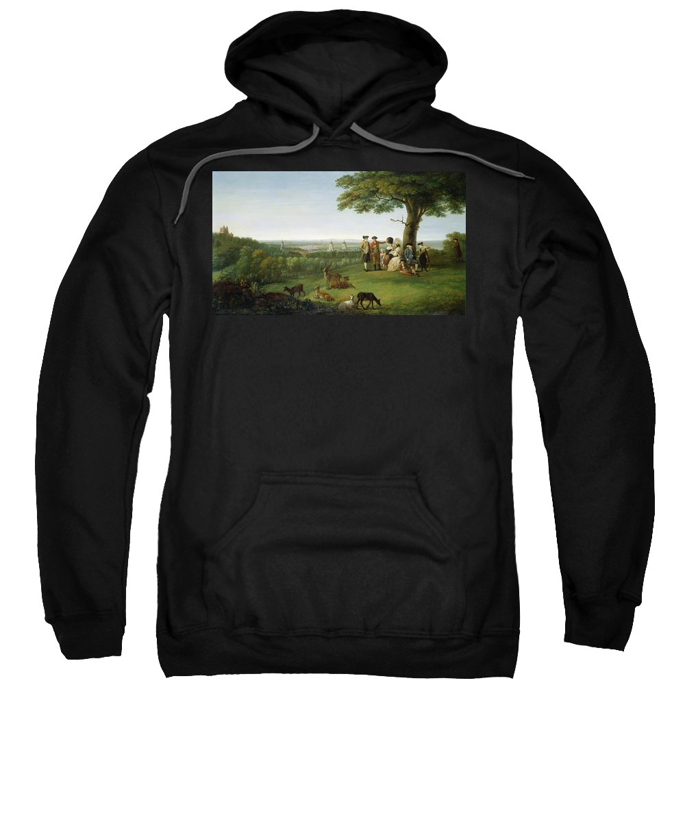 Xyc306183 Sweatshirt featuring the photograph One Tree Hill - Greenwich by John Feary