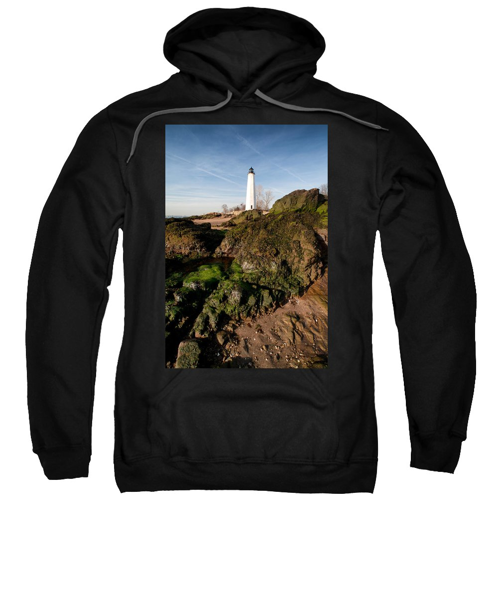Coastal Sweatshirt featuring the photograph Over The Jetty by Karol Livote