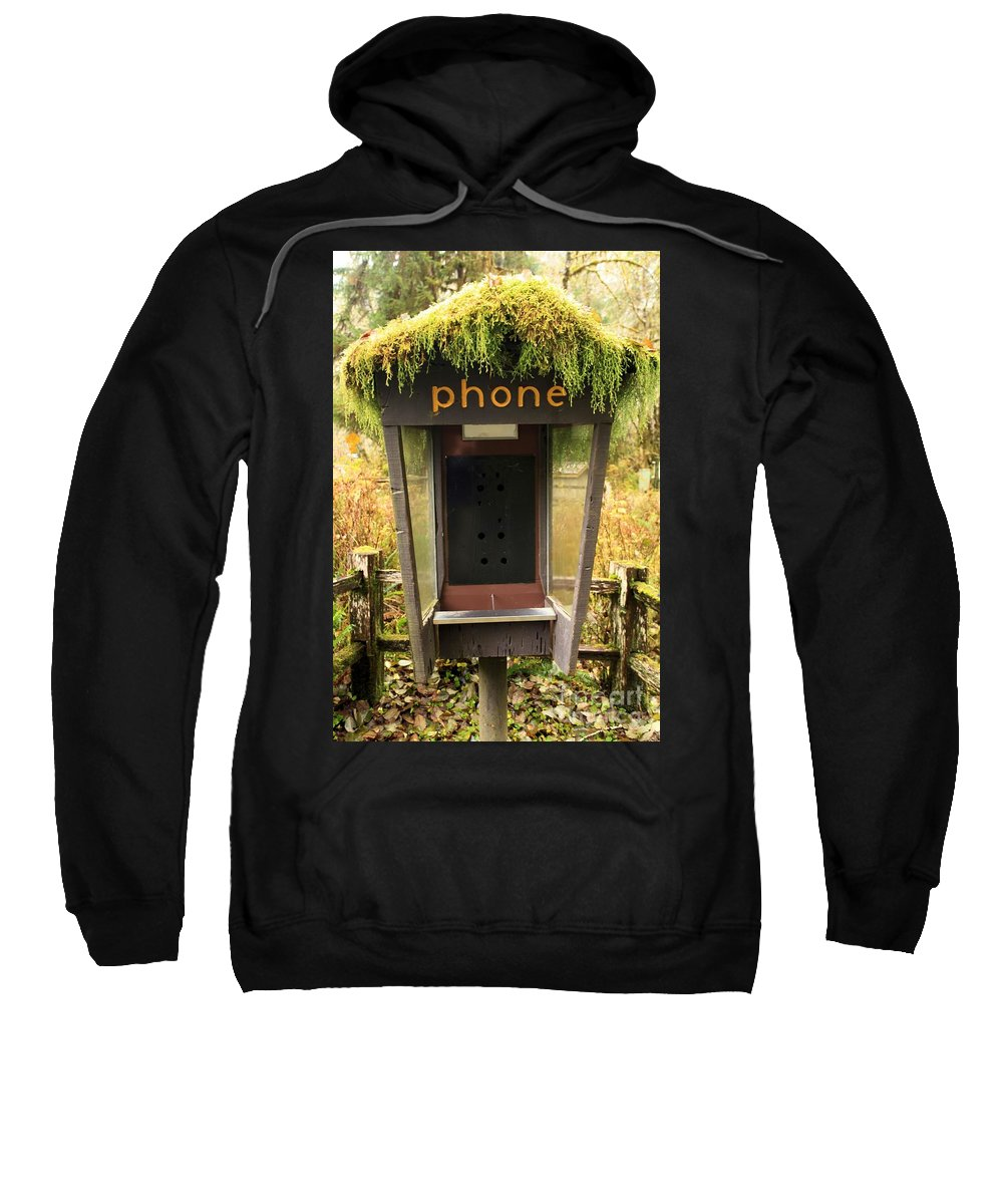 Phone Booth Sweatshirt featuring the photograph Overgrown by Adam Jewell