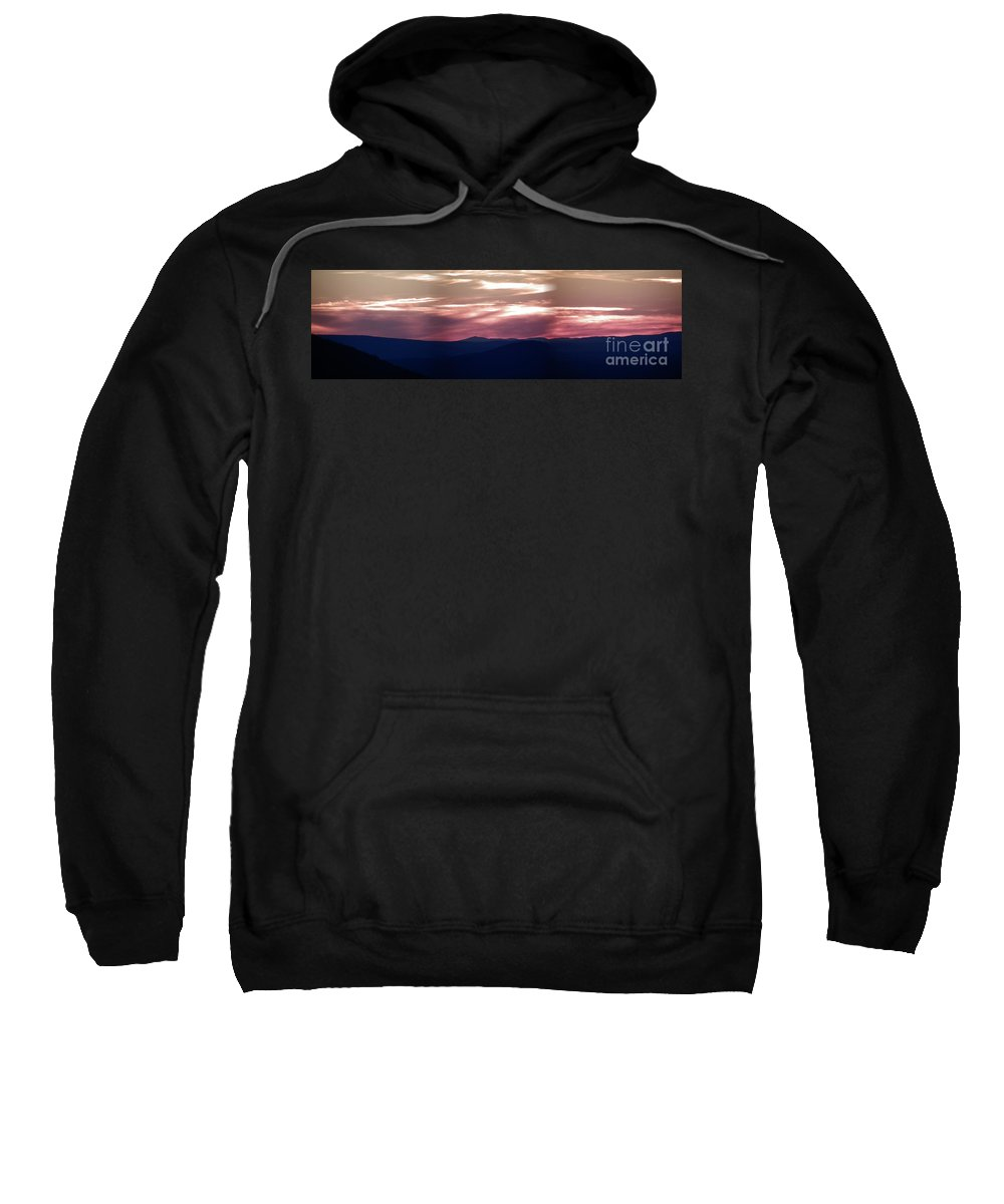 Panoramic Sweatshirt featuring the photograph Ozark Dusk by Charleen Treasures