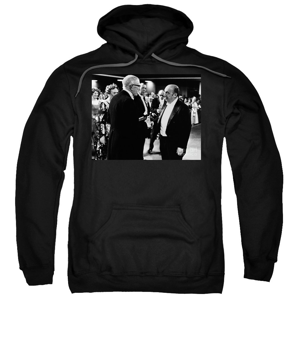 1971 Sweatshirt featuring the photograph Pablo Neruda (1904-1973) by Granger