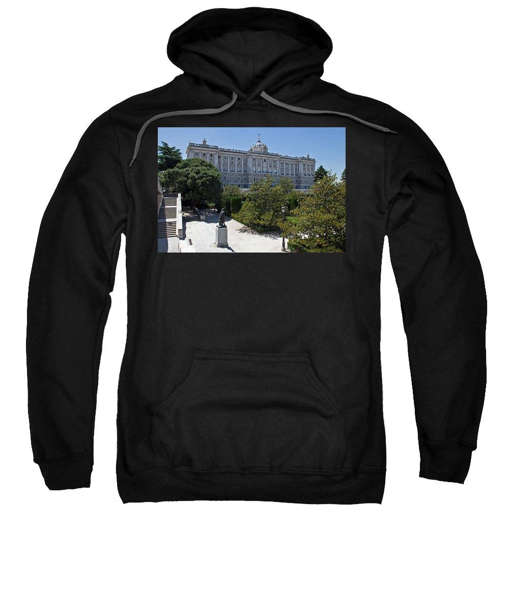 Madrid Sweatshirt featuring the photograph Palacio Real by David Pringle