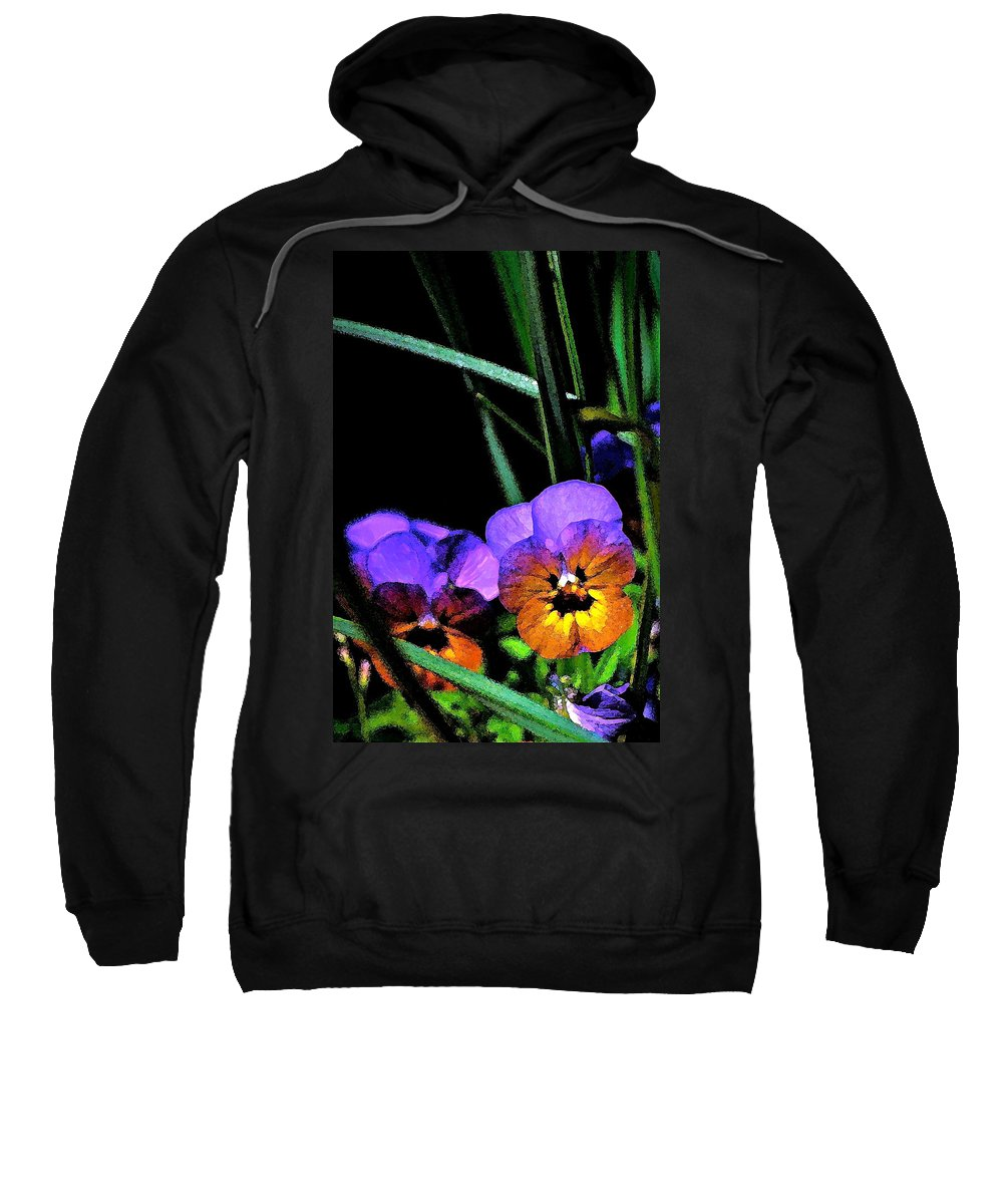 Floral Sweatshirt featuring the photograph Pansy 5 by Pamela Cooper