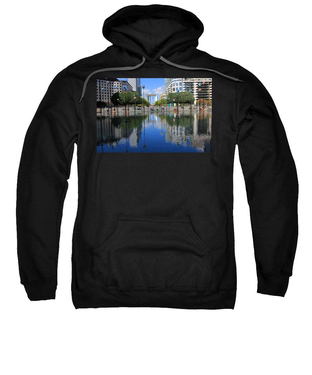 Paris Sweatshirt featuring the photograph Paris La Defense 3 by Andrew Fare