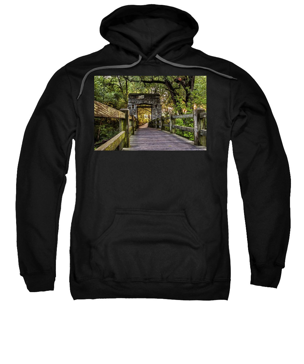 Cj Schmit Sweatshirt featuring the photograph Passing Over Into The Light by CJ Schmit