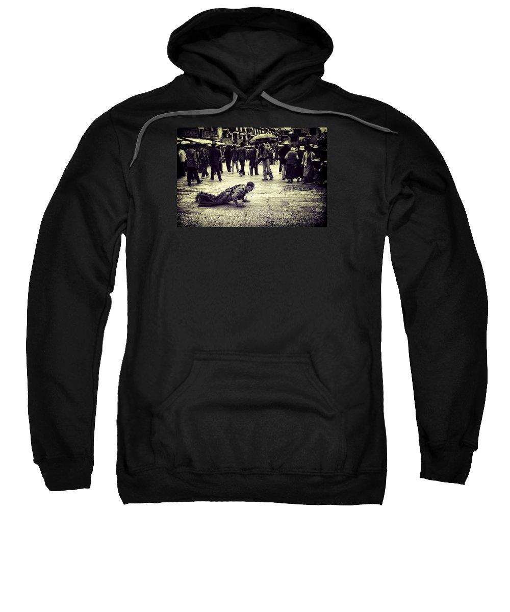 Man Sweatshirt featuring the photograph Pathway To Awakening by Joan Carroll