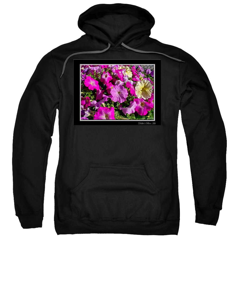 Nature Sweatshirt featuring the photograph Patunias Galore by Debbie Portwood
