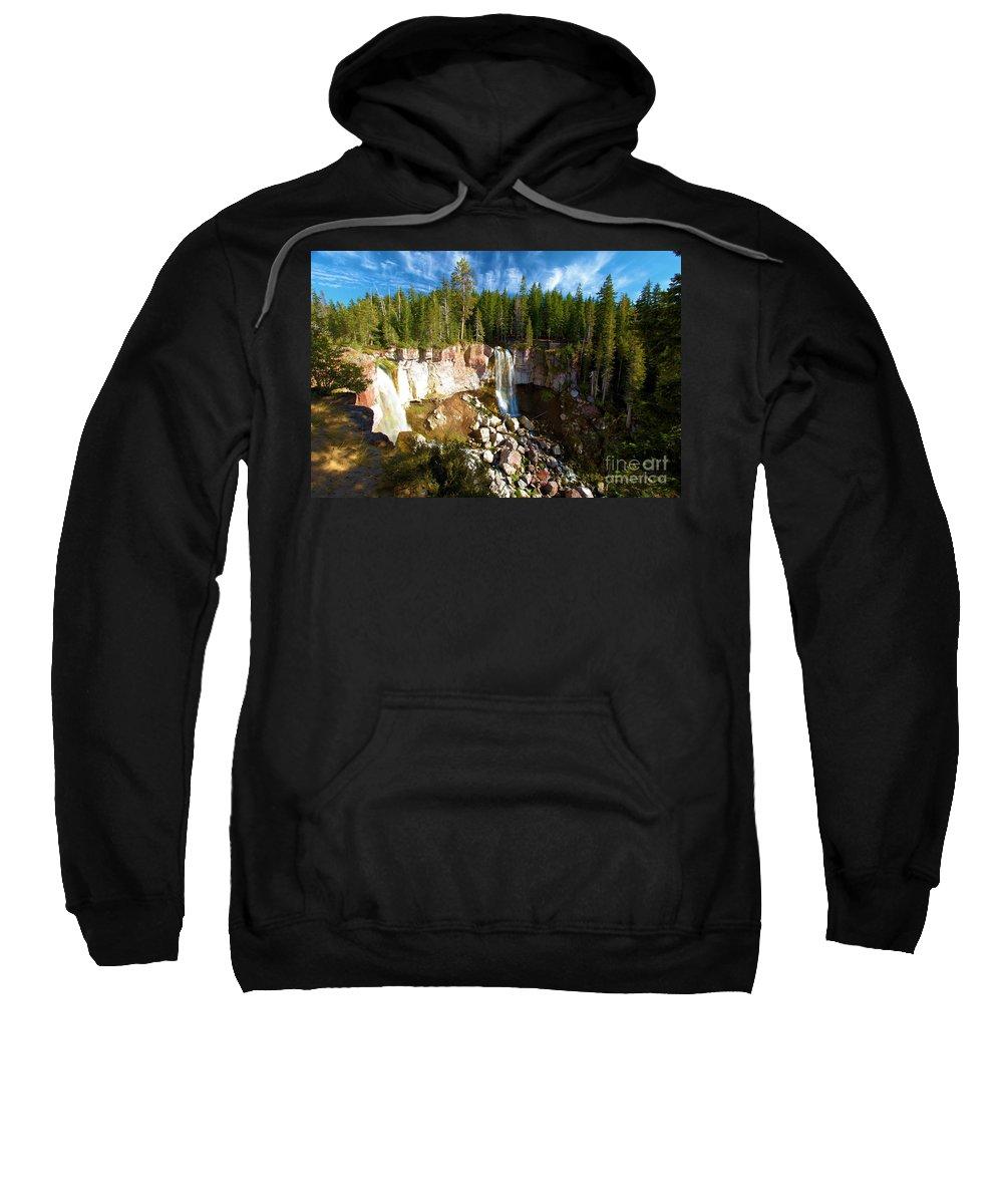 Paulina Falls Sweatshirt featuring the photograph Paulina Falls At Newberry by Adam Jewell