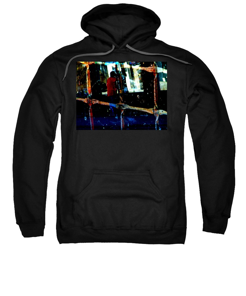 Abstract Sweatshirt featuring the photograph Peeking by Lenore Senior