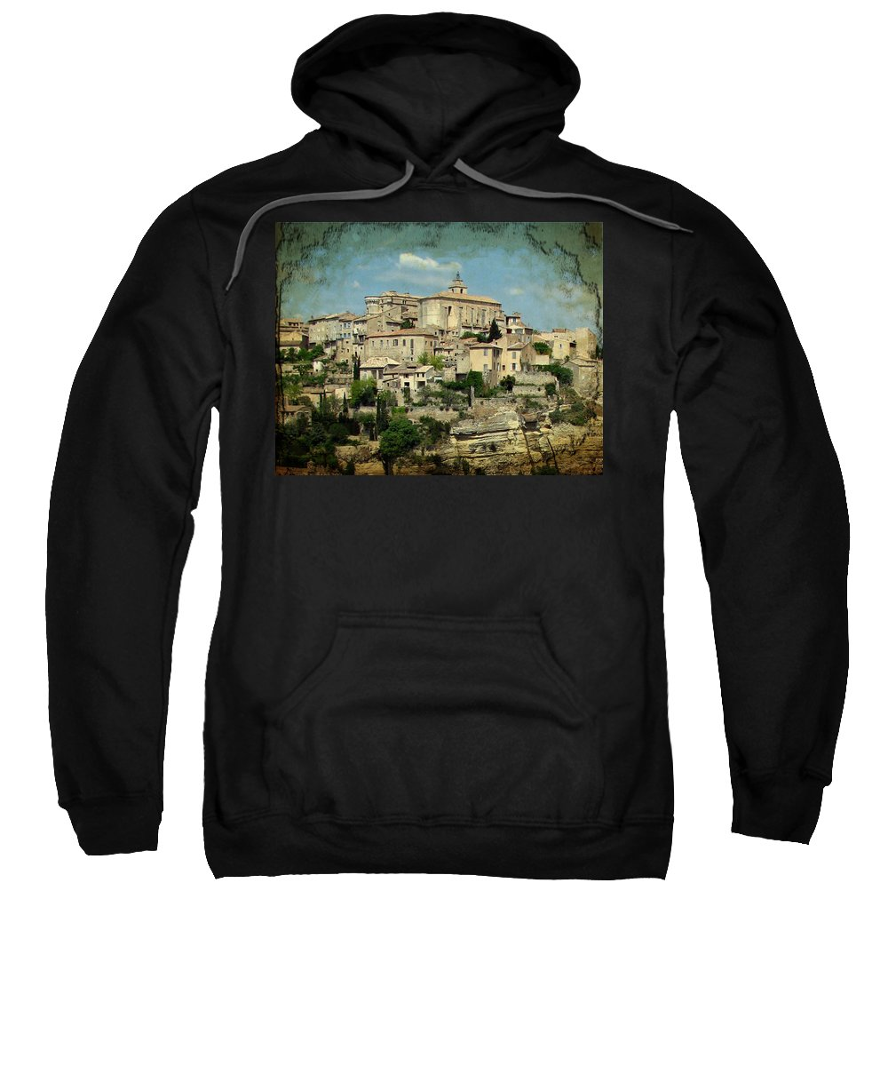 Gordes Sweatshirt featuring the photograph Perched Village Of Gordes by Carla Parris