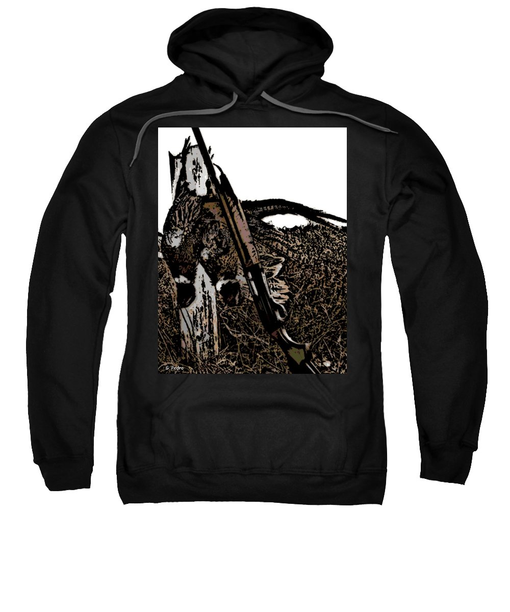 Pheasant Sweatshirt featuring the photograph Pheasant Hunt by George Pedro
