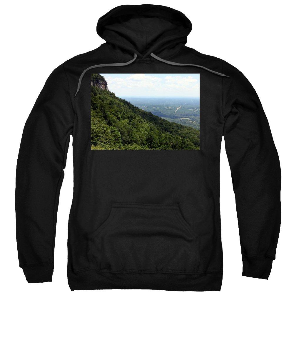 Pilot Mountain Sweatshirt featuring the photograph Pilot Mountain by Karen Wiles