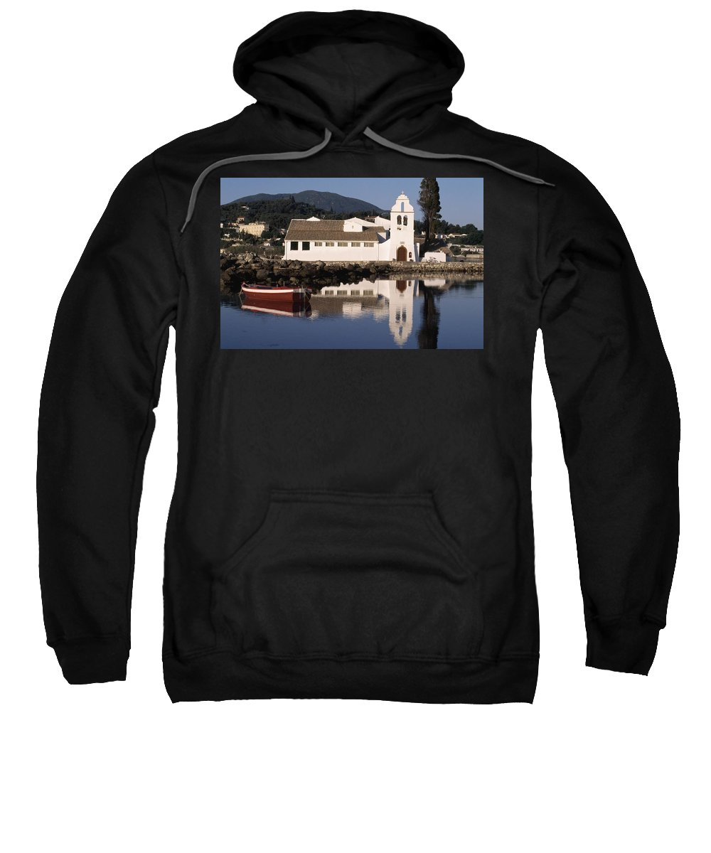 Photography Sweatshirt featuring the photograph Pondikonissi by Axiom Photographic