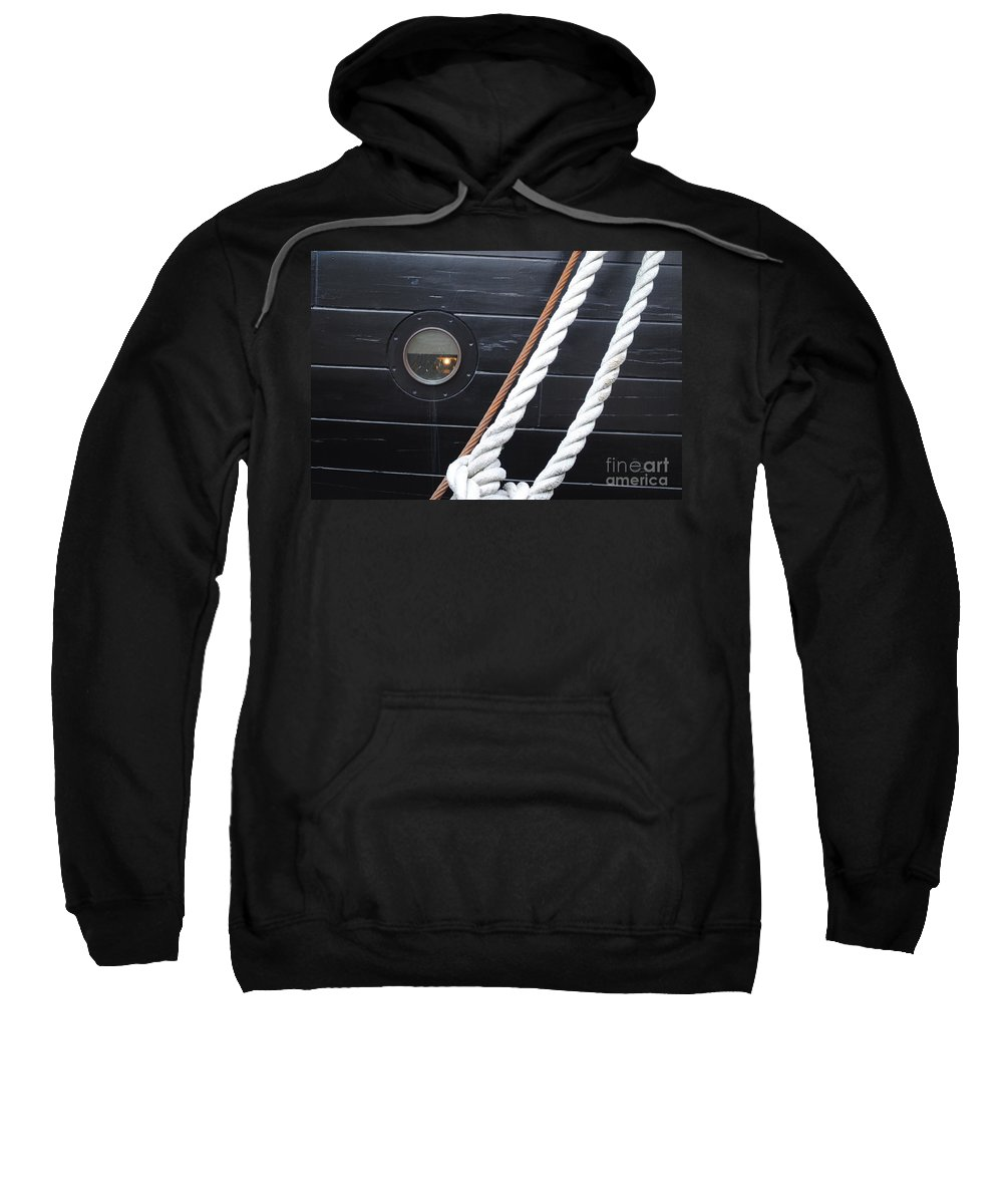 Cannons Sweatshirt featuring the photograph Port Hole Constellation by Jost Houk