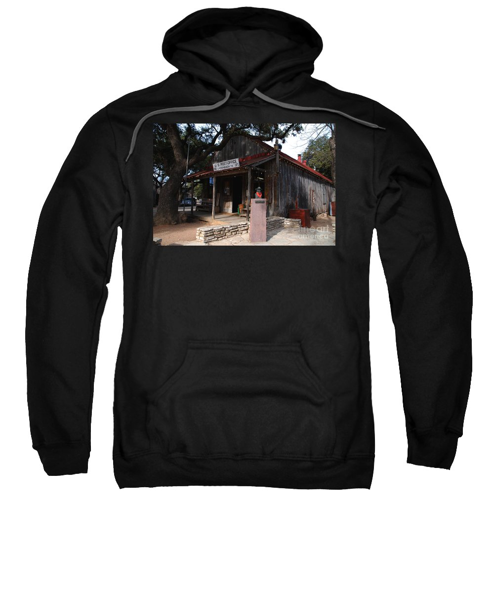 Luckenbach Sweatshirt featuring the photograph Post Office In Luckenbach Texas by Susanne Van Hulst