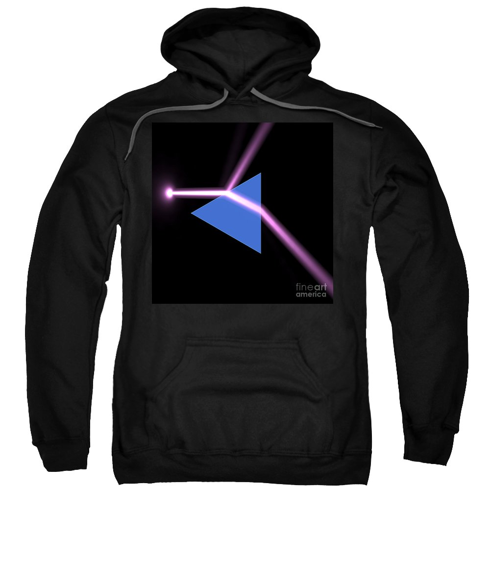 Beam Sweatshirt featuring the digital art Prism 3 by Russell Kightley