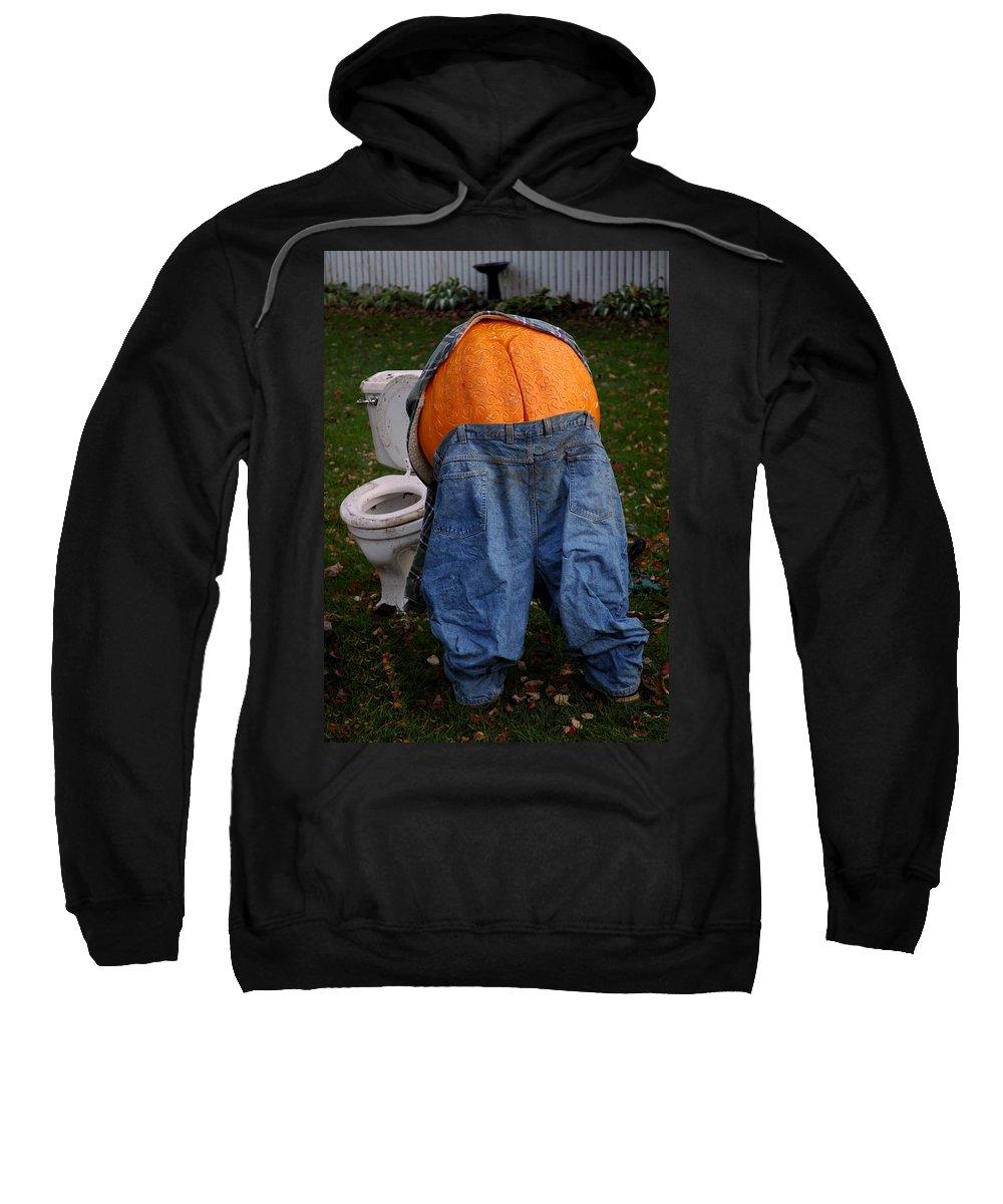 Usa Sweatshirt featuring the photograph Pumpkin Butt by LeeAnn McLaneGoetz McLaneGoetzStudioLLCcom