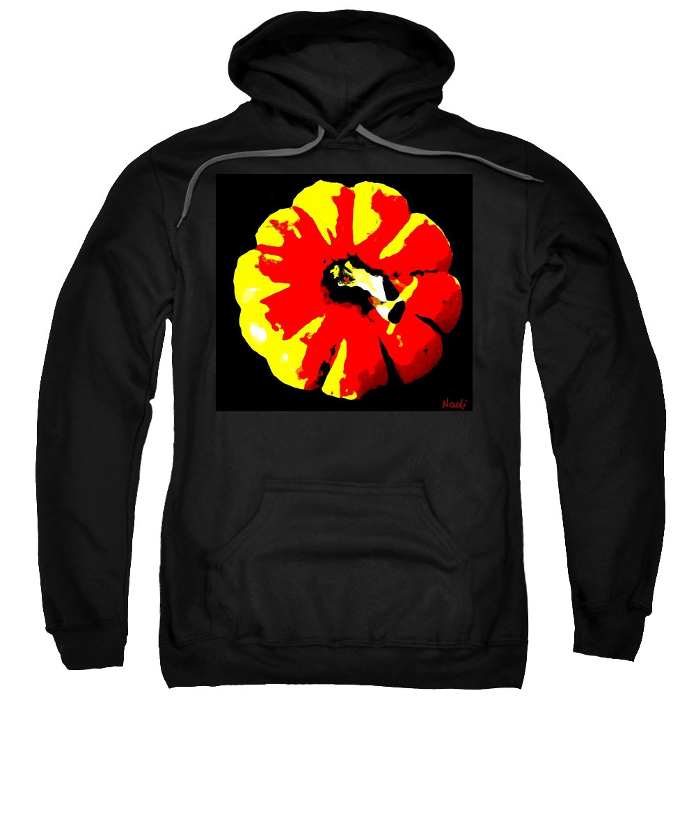 Pumpkin Sweatshirt featuring the painting Pumpkin Of The Witch by Renate Nadi Wesley