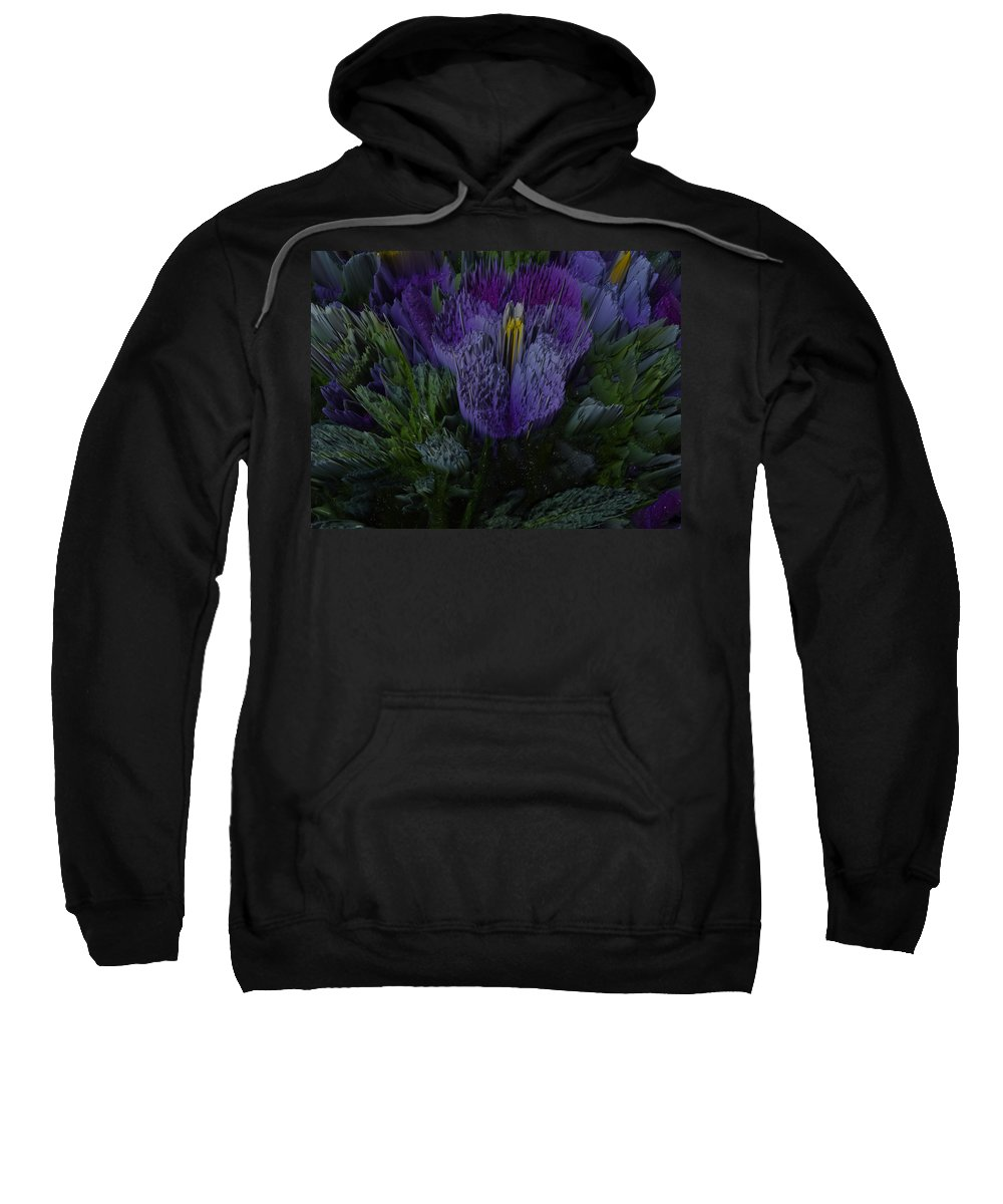 Trees Sweatshirt featuring the photograph Purple Flower Springs by Robert Margetts