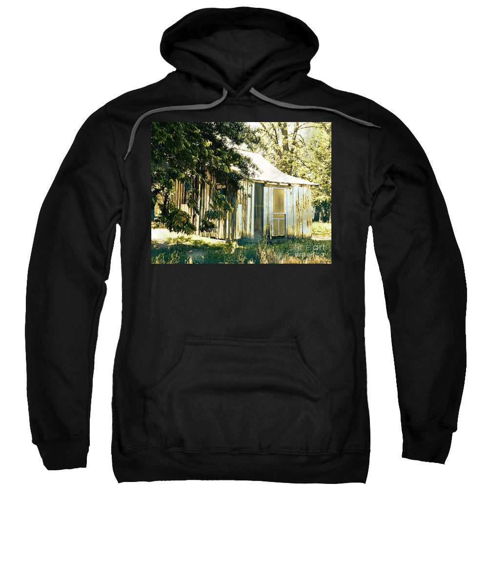 Shack Sweatshirt featuring the digital art Quarters by Lizi Beard-Ward