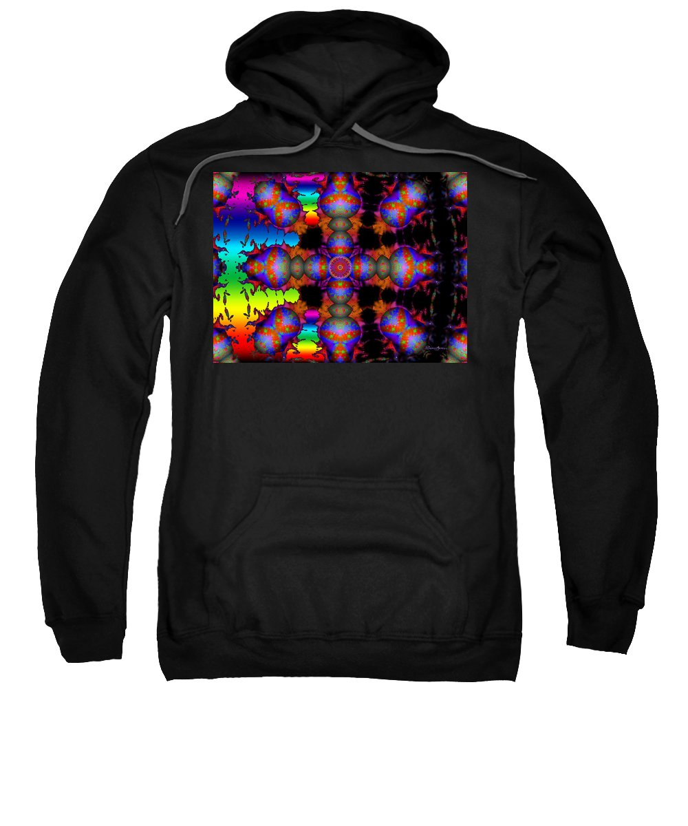 Multicolor Sweatshirt featuring the digital art Quiet Time by Robert Orinski