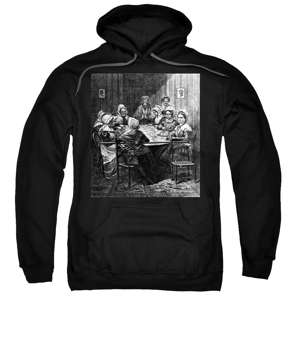 1864 Sweatshirt featuring the photograph Quilting Party, 1864 by Granger