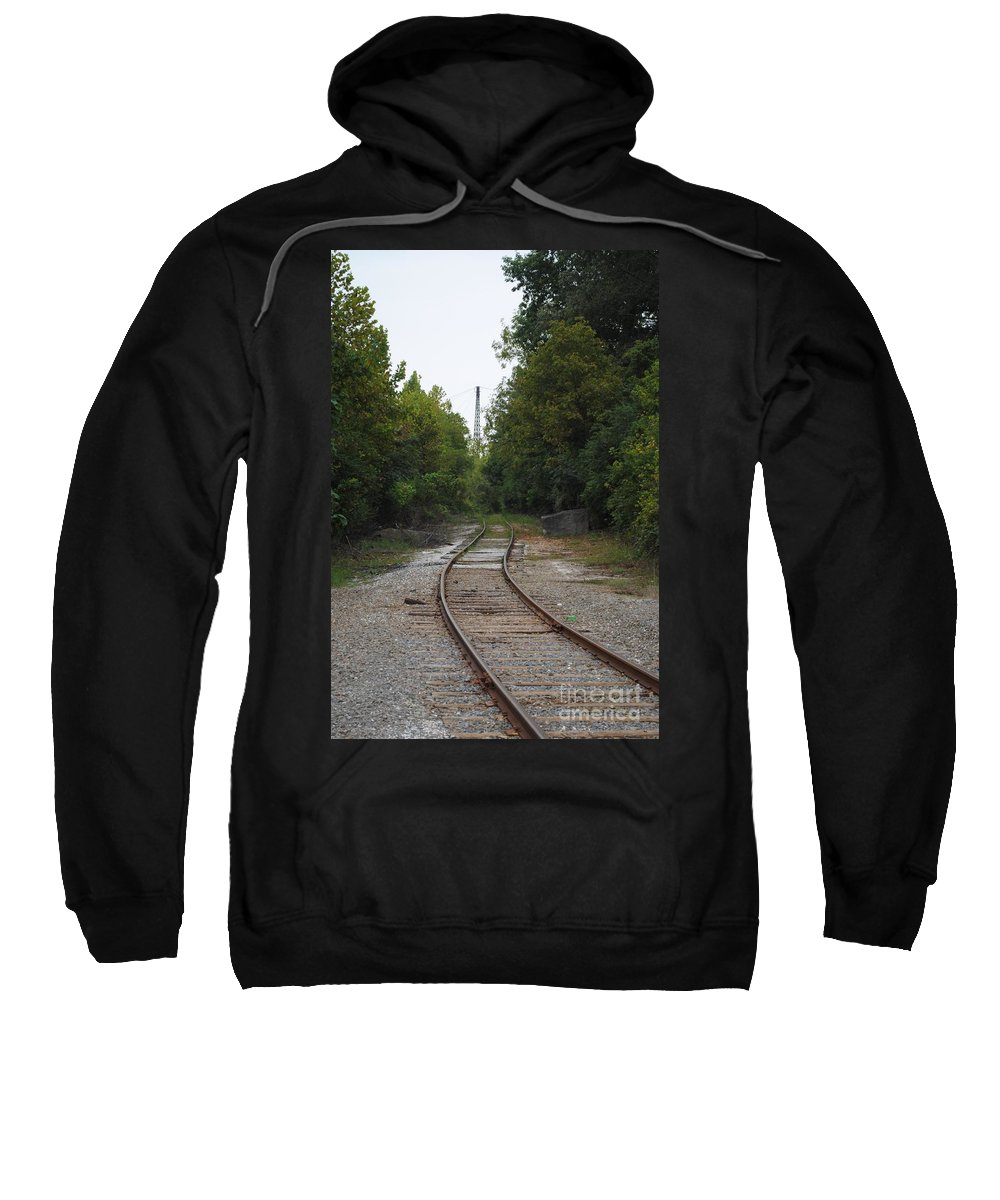 Rail Sweatshirt featuring the photograph Rail To The Forest by Jost Houk