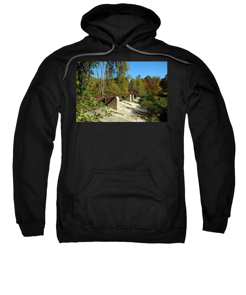 Usa Sweatshirt featuring the photograph Rails To The Past by LeeAnn McLaneGoetz McLaneGoetzStudioLLCcom