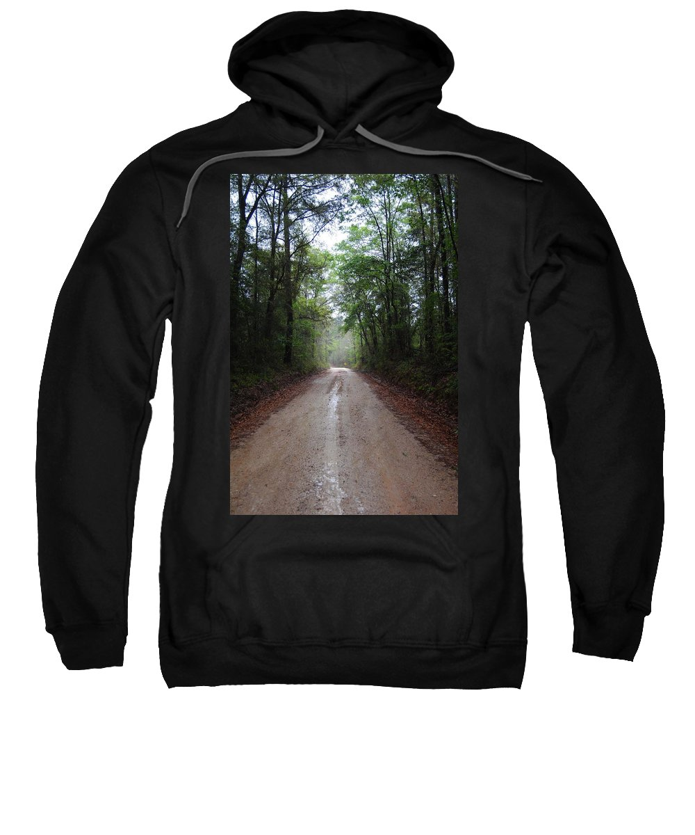 Dirt Road Sweatshirt featuring the photograph Rain On A Dirt Road by Charlie Day