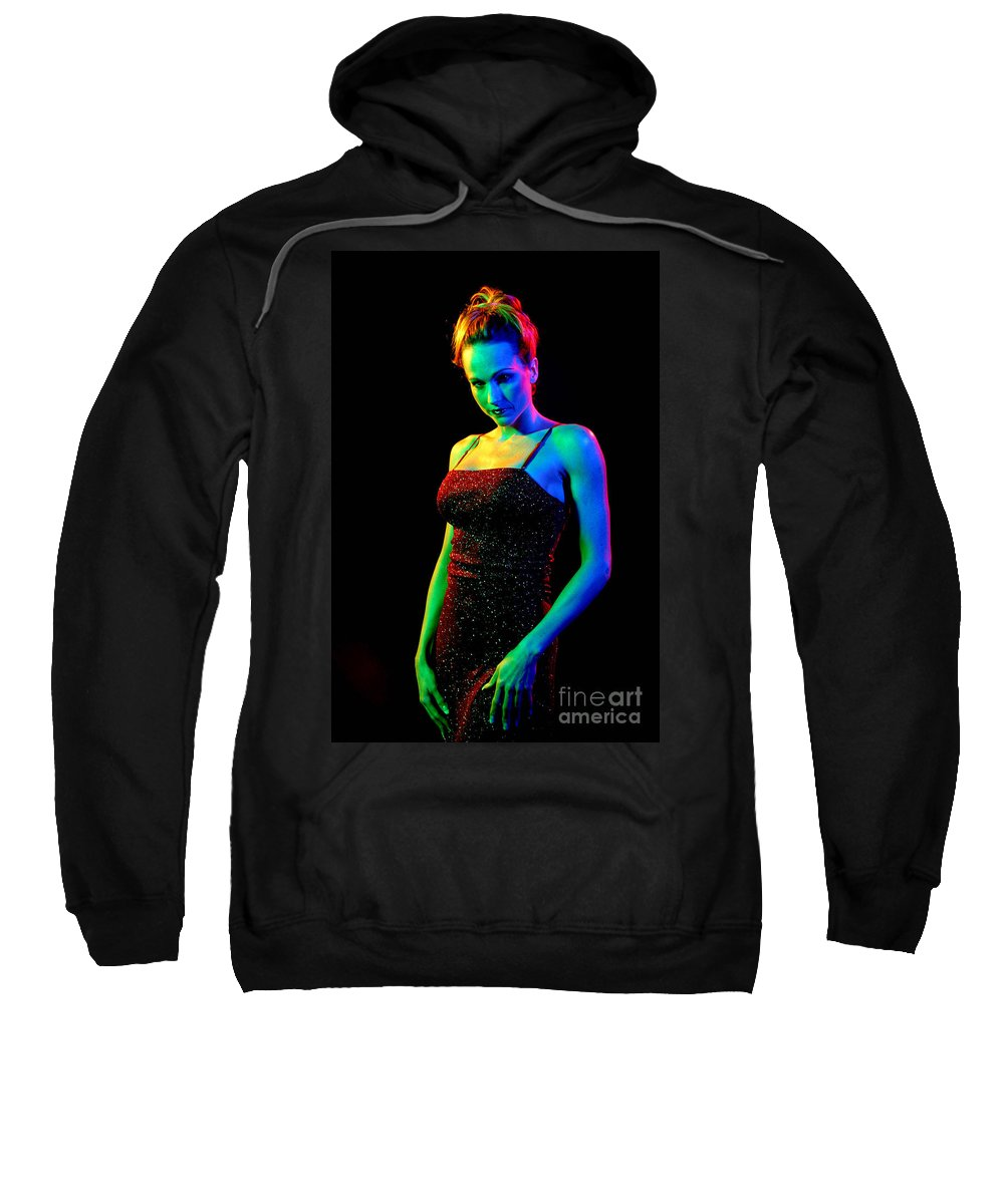 Model Sweatshirt featuring the photograph Rainbow 3-2 by Gary Gingrich Galleries