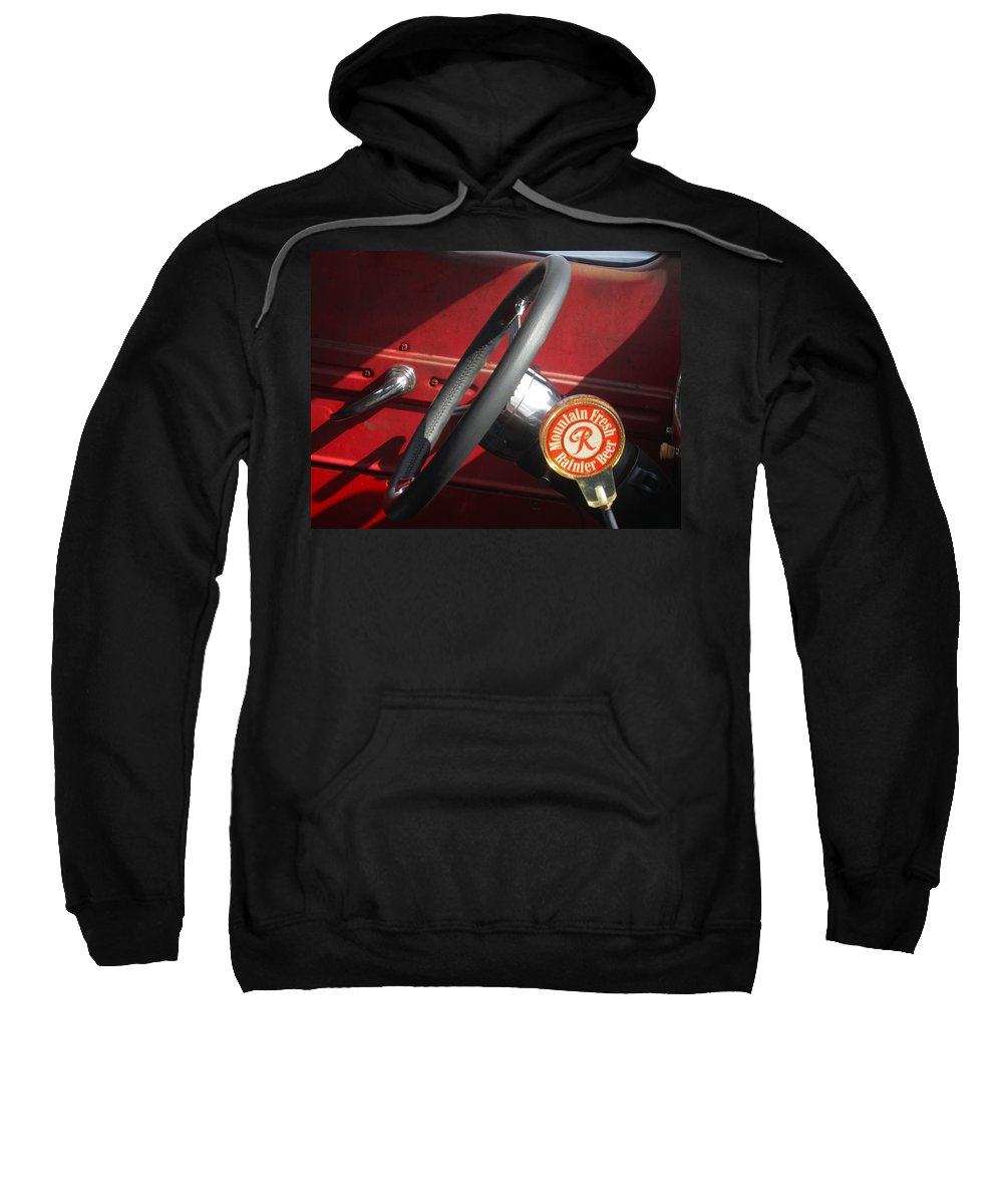 Classic Cars Sweatshirt featuring the photograph Rainier Stick Shift by Kym Backland